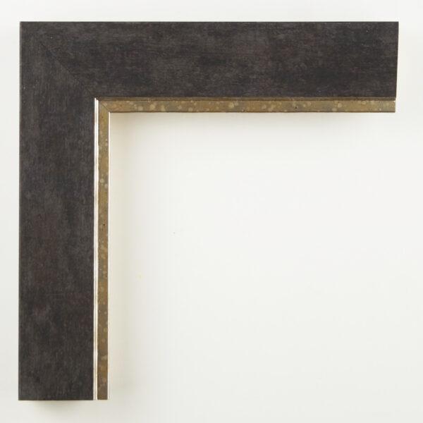 Κορνίζα τοίχου σκούρο γκρί με χρυσή γραμμή