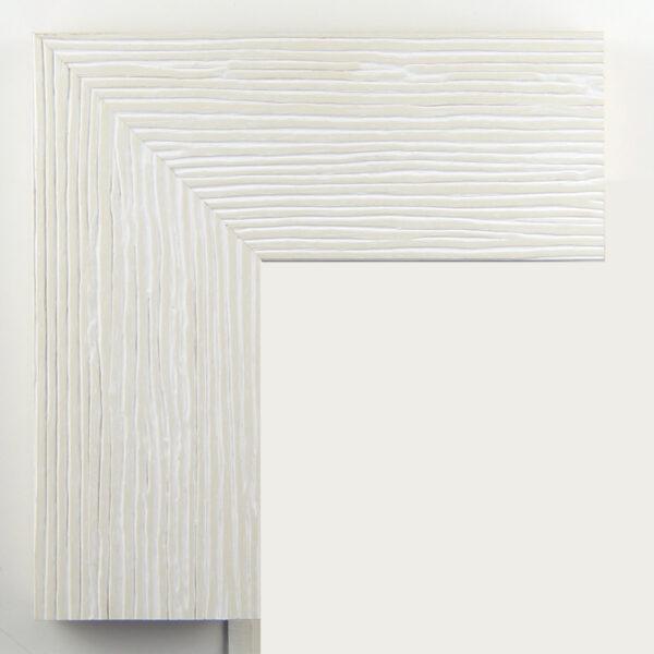 Κορνίζα λευκή με μπεζ γραμμές
