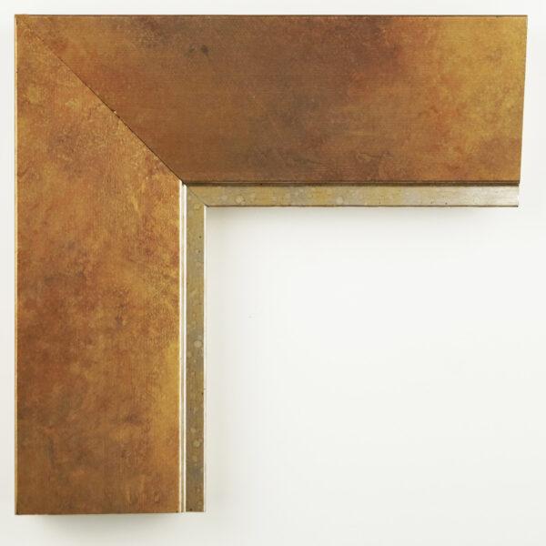 Κορνίζα τοίχου μπρονζέ με χρυσή γραμμή